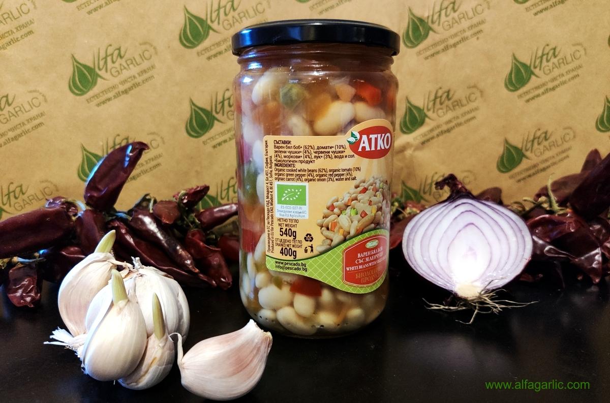 био боб, варен боб със зеленчуци, био боб със зеленчуци, варен боб консерва,